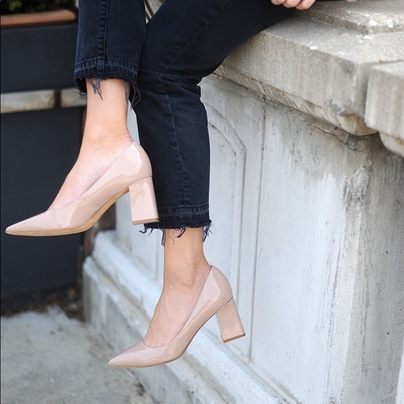 8481e554c Marc Fisher Shoes   New Zala Leather Blocked Heels   Poshmark